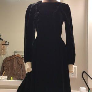 $3,990 Y saint Laurent Paris Velvet Dress